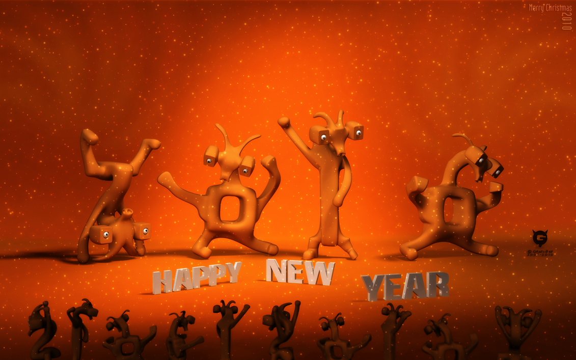Happy New Year 2010 by Grafi-Ray