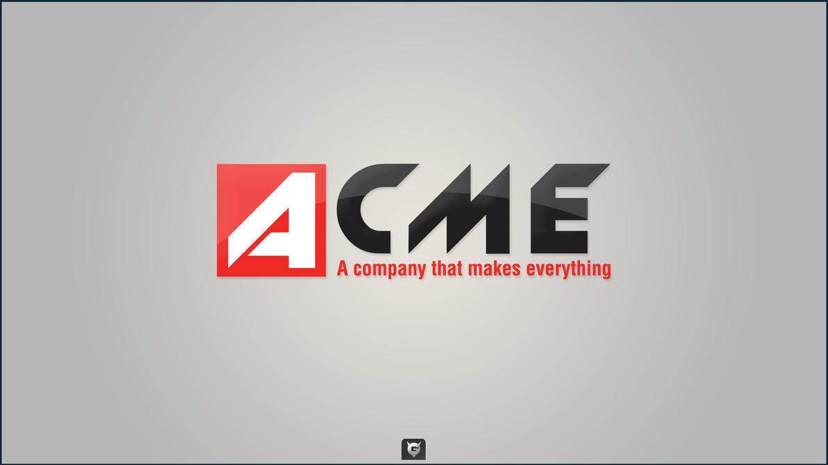 acme logo by grafiray on deviantart