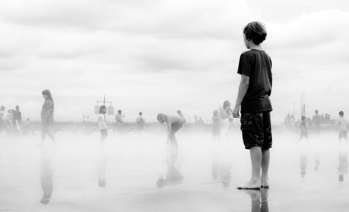 Boy in the fog by Ugoma