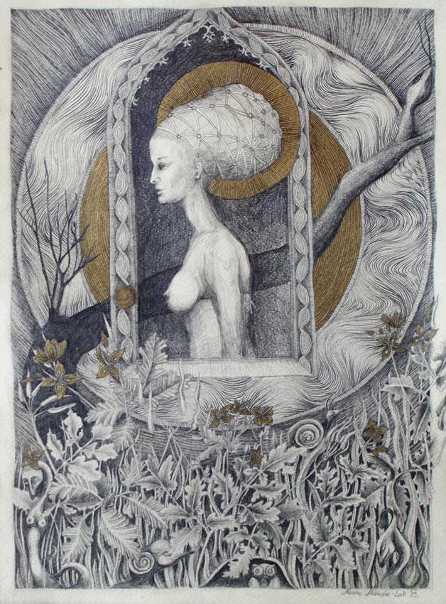 Madonna of Kupala Day by marzenaabl