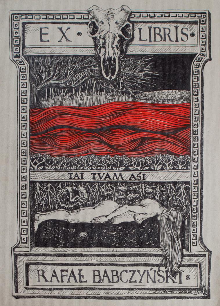 Exlibris No 6 - one more by marzenaabl