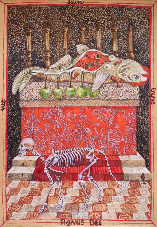 Bestiary Card No 28 by marzenaabl