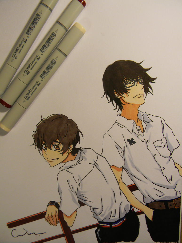 Twelve and Nine - Zankyou no Terror by Raptchur