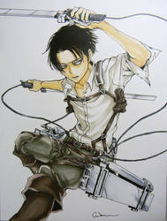 Levi Ackerman - SnK by Raptchur