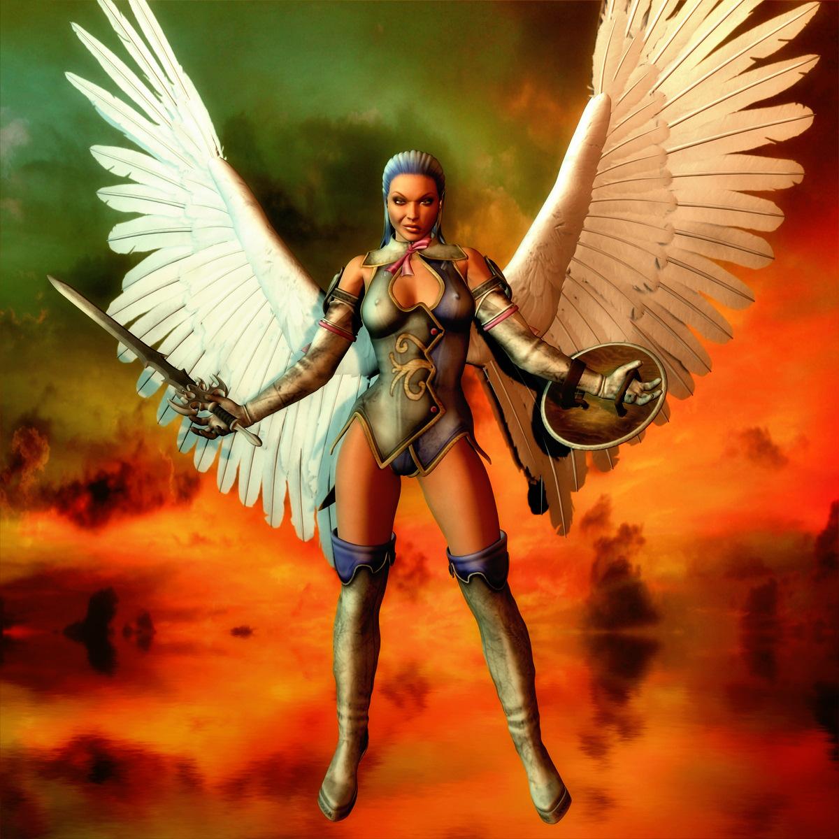 Фото девушки ангела с оружием 20 фотография