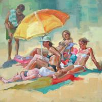 on the beach by renatadomagalska