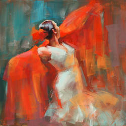 THE RED SCRAF by renatadomagalska