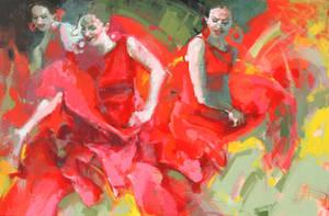 Bunch of dancers by renatadomagalska