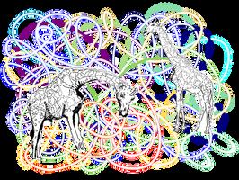 Giraffes - vector version