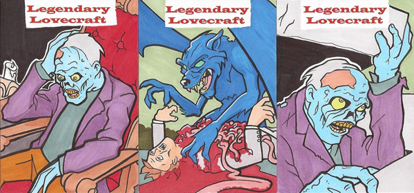 LEGENDARY LOVECRAFT SKETCH CARDS PREVIEW by Tyrant-1