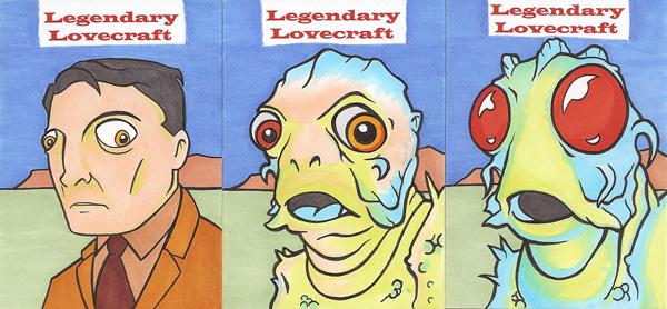 LEGENDARY LOVECRAFT SKETCH CARDS SET 5 by Tyrant-1