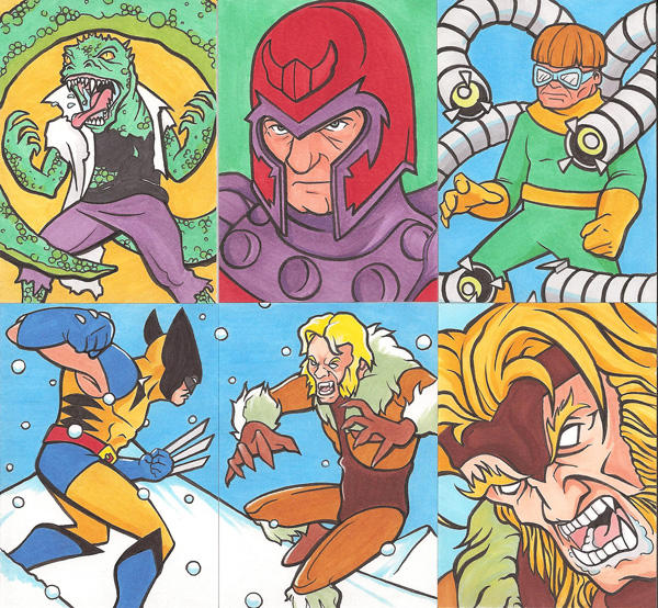 Marvel Personal Sketch Cards Set 1 by Tyrant-1