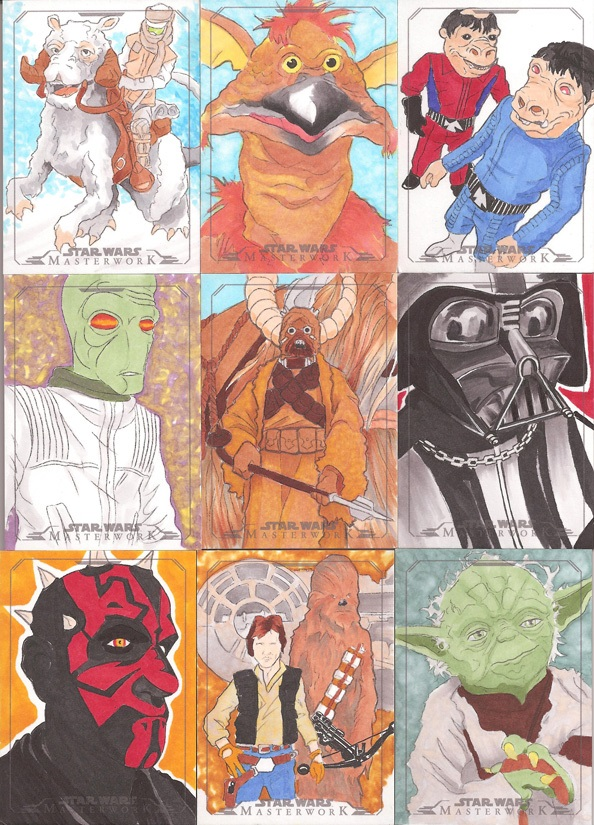 Star Wars Masterwork Sketch Card Set 1 by Tyrant-1