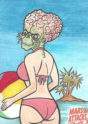 MARS ATTACKS: OCCUPATION PREVIEW Beach Babe by Tyrant-1