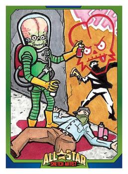 MARS ATTACKS ALL STAR SKETCH ARTIST CARD