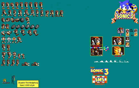 Shadow Sonic 3 SMS Style
