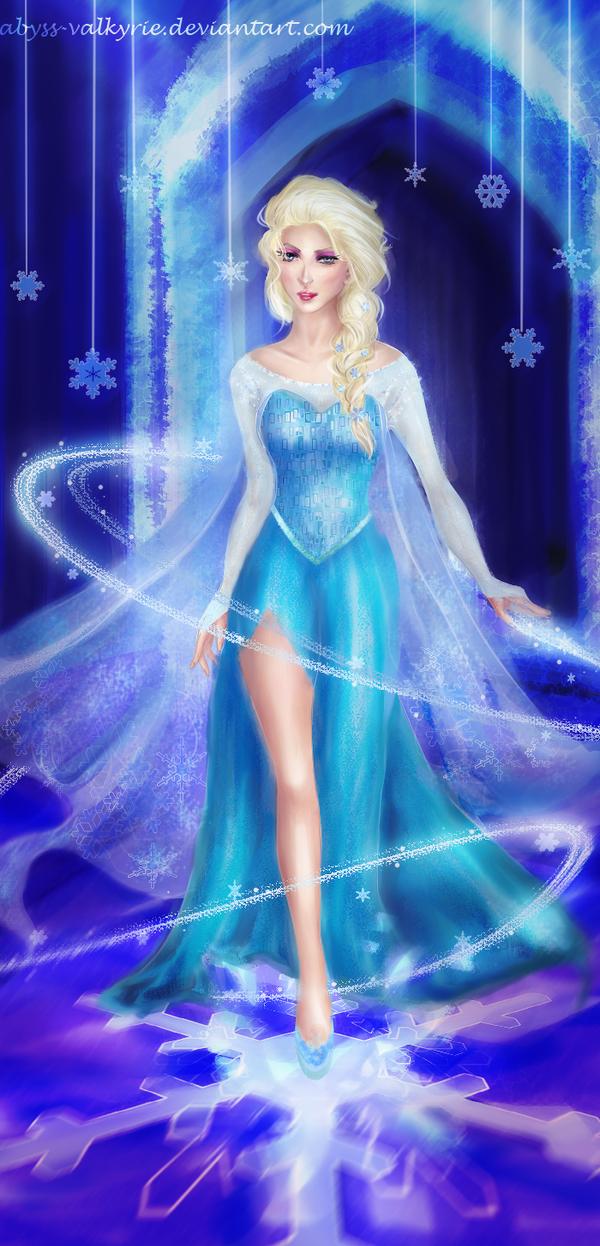 Elsa's awakening by Abyss-Valkyrie