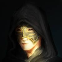 Black cloaked envoy
