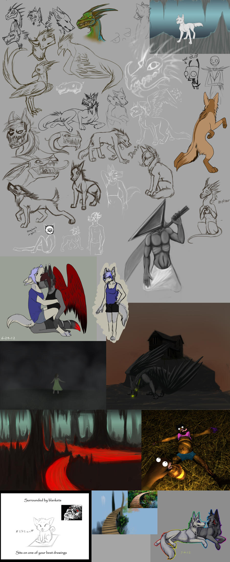 Huge sketch dump 3 by xXNuclearXx
