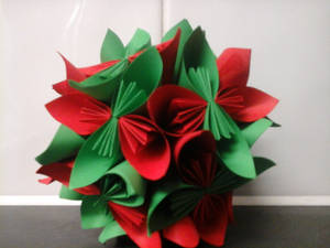 Large Origami Christmas Tree Ornament | aftcra | 225x300
