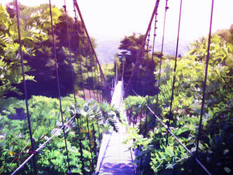 Suspension bridge by A4size-ska