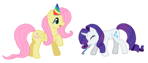 Fluttershy and Rarity: Party