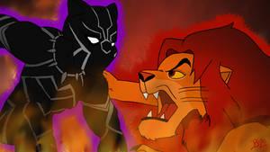 Black Panther Vs Simba