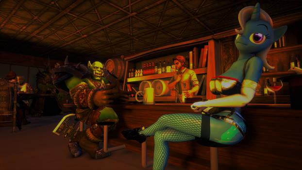Trixie at the bar