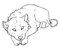 Free Wolfpup Lineart by KaylaScelson