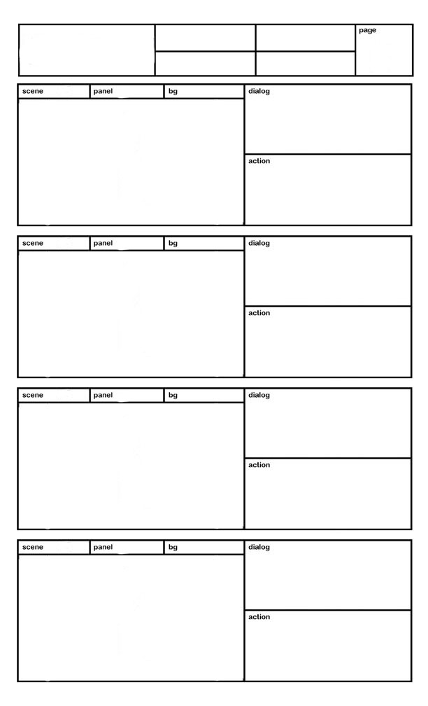 Storyboard Page Template By Richy28 On Deviantart
