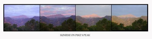 Sun Rise on Pike's Peak by Kicks02