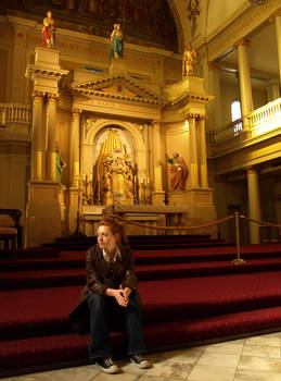 Erin at St.Louis Cathdral