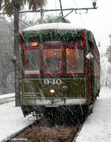 NOLA Snow - Streetcar 01 by Kicks02