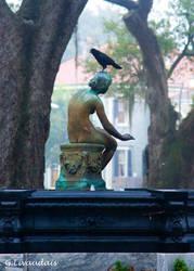 Bird on Butler Fountain by Kicks02