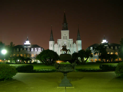 Jackson Square at Night 1