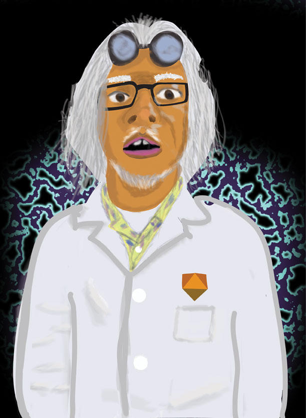 Great Scott! Me as Doc Brown.
