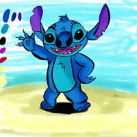 Stitch drawing using Paint tool Sai