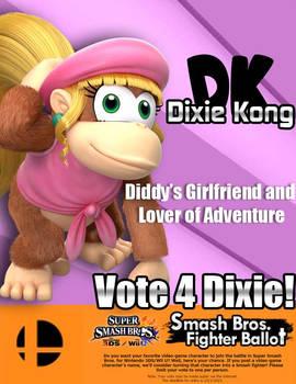 Dixie Kong for Smash 4