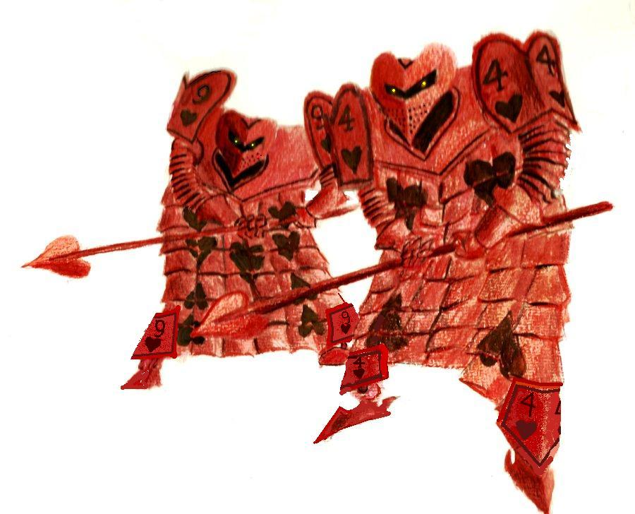 AIW Heart Card Soldiers By Killb94 On DeviantArt