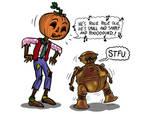Jack Pumpkinhead and Tik-Tok