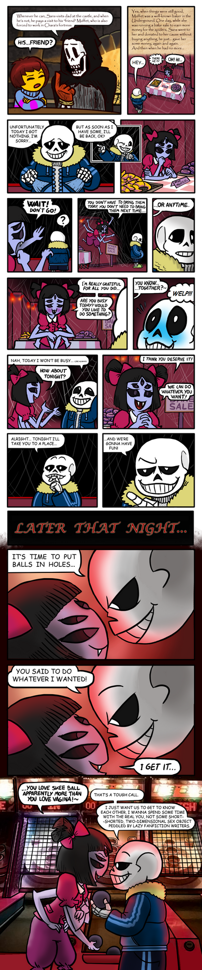 Sans and Muffet's first date by killb94