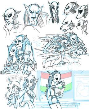 Nelvaanians (2003 Clone Wars) doodle dump
