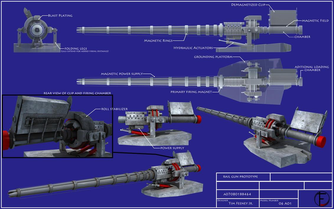 Coil gun prototype blueprints by caetis on deviantart coil gun prototype blueprints by caetis malvernweather Choice Image