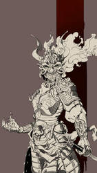 Female Oni Samurai by Caetis
