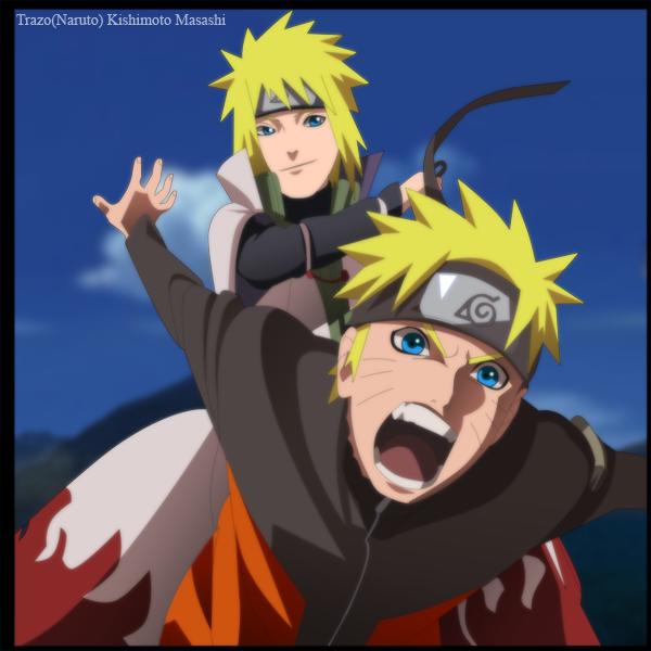 Minato and Naruto by Trazo17