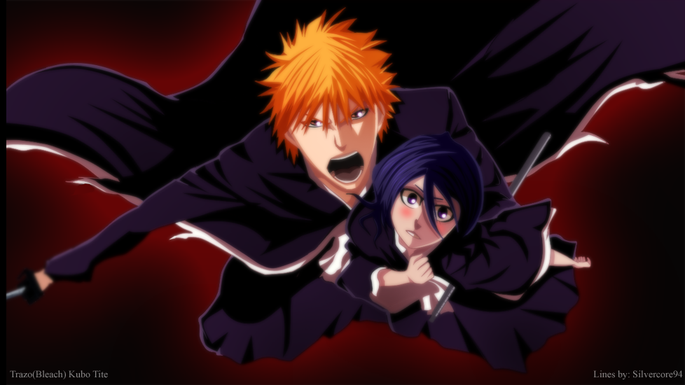 Ichigo and Rukia by Trazo17 on DeviantArt