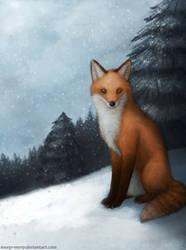 Snowy Fox by Meep--Merp