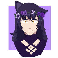 Blake with a flower crown [1/2] by Inuaart