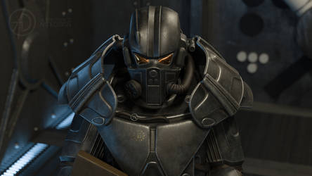 Enclave Soldier in XT-6 Power Armor