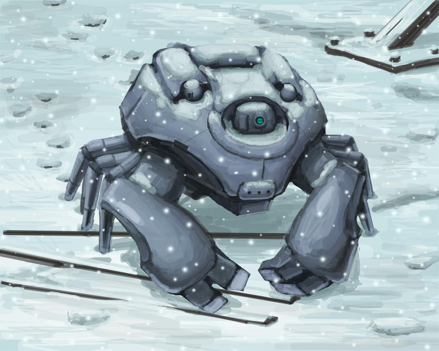 Mecha Spider Tank by Realityendshere